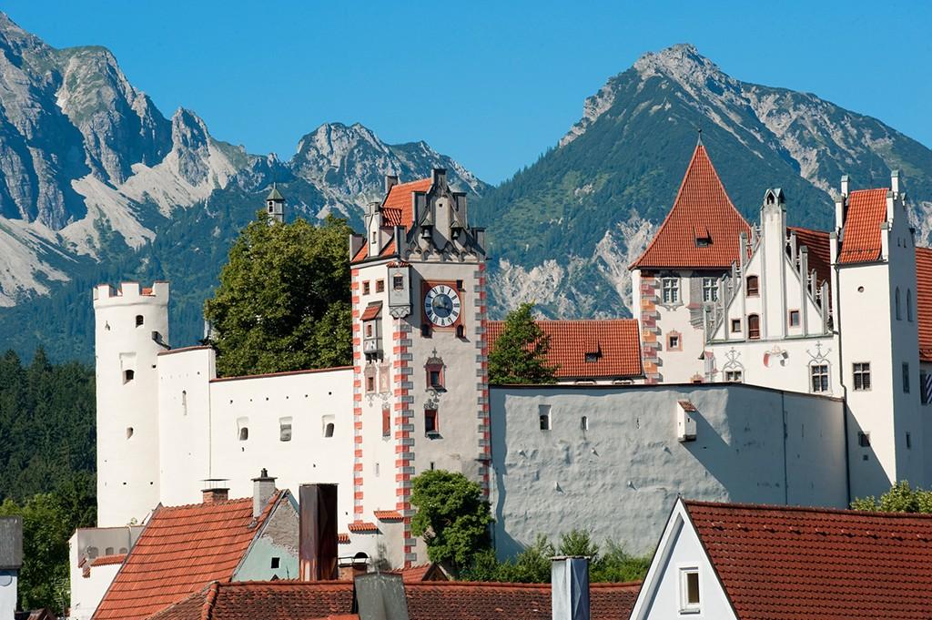 Blick auf das Hohe Schloss in Füssen